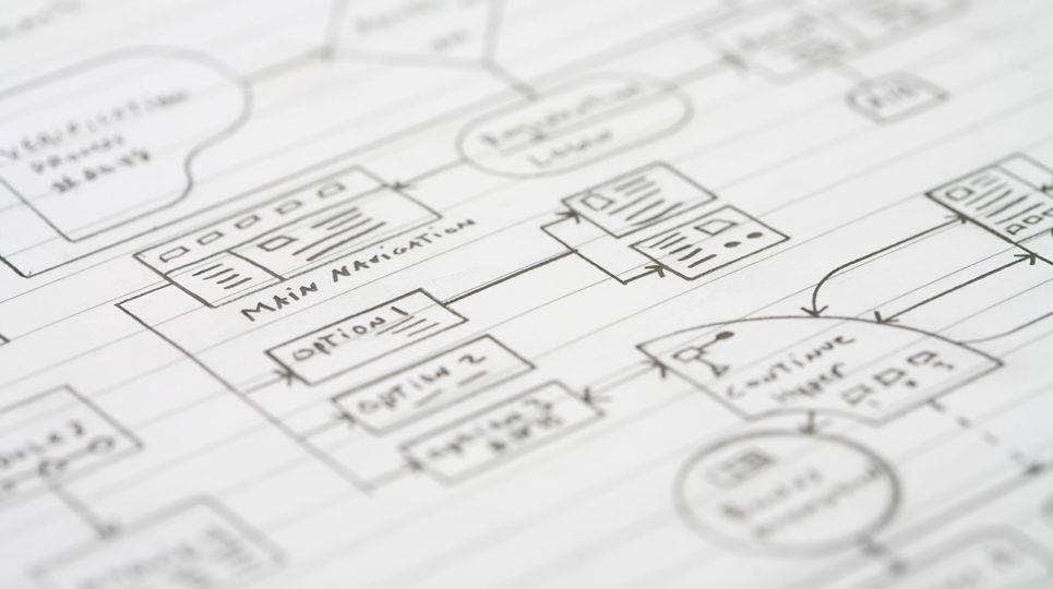 Drawn web diagram