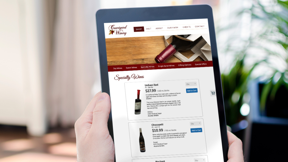 Courtyard Winery Tablet