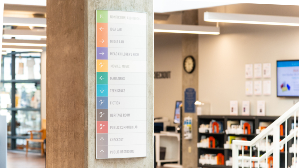 Erie Library Wayfinding