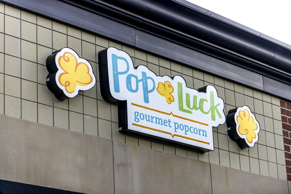 Pop Luck Signage