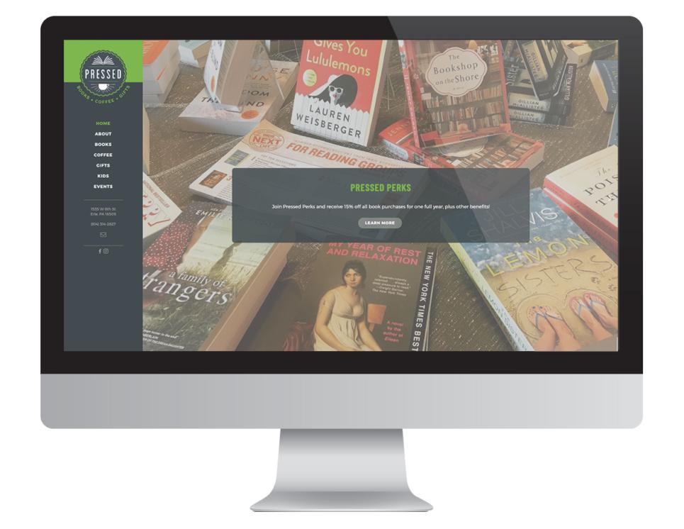 Pressed Website Desktop